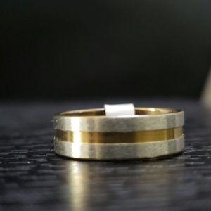 Other - 5️⃣For 2️⃣5️⃣NWT Silver Gold stainless steel ring